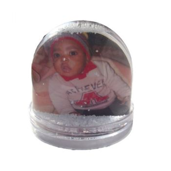 Personalised Photo Globe with Snow - Clear Base